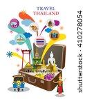 Suitcase With Thailand Landmar...