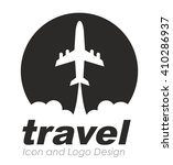 travel logo | Shutterstock .eps vector #410286937