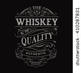 whiskey label hand drawn... | Shutterstock .eps vector #410287831