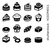 dessert icon set | Shutterstock .eps vector #410294011