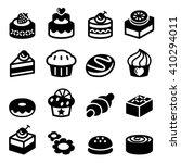 dessert icon set | Shutterstock .eps vector #410294011