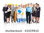 large group of smiling workers... | Shutterstock . vector #41029810