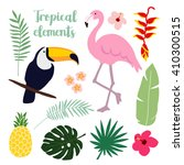 summer tropical graphic... | Shutterstock .eps vector #410300515