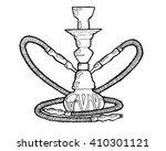 shisha  hookah hand drawn... | Shutterstock .eps vector #410301121
