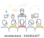 flat line design style modern... | Shutterstock .eps vector #410301427