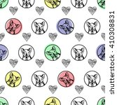 seamless vector pattern with... | Shutterstock .eps vector #410308831