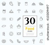 set of food icons for web or... | Shutterstock .eps vector #410309497