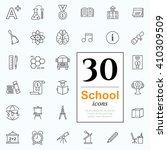 set of school icons for website ... | Shutterstock .eps vector #410309509