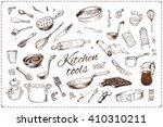 kitchenware. kitchen tools.... | Shutterstock .eps vector #410310211