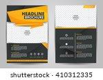 abstract vector modern flyers... | Shutterstock .eps vector #410312335