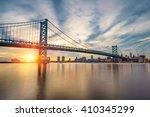 ben franklin bridge in... | Shutterstock . vector #410345299