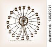 ferris wheel sketch style... | Shutterstock .eps vector #410350714