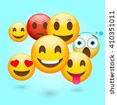 emoticons fresh set. emoticons... | Shutterstock .eps vector #410351011