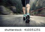 running on the road around... | Shutterstock . vector #410351251