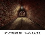 Long Underground Brick Tunnel...