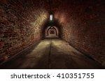 Long Underground Brick Tunnel...