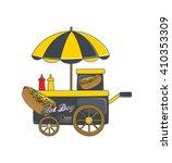 food vendor   sale cart | Shutterstock .eps vector #410353309