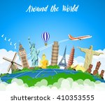travel to world. road trip.... | Shutterstock .eps vector #410353555