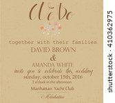 wedding invitation. vector... | Shutterstock .eps vector #410362975