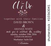 wedding invitation. vector...   Shutterstock .eps vector #410363041