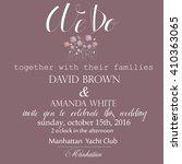 wedding invitation. vector... | Shutterstock .eps vector #410363065