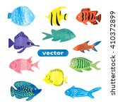 fish set. collection of...   Shutterstock .eps vector #410372899