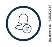 female user home icon