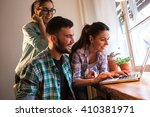 group of young designers... | Shutterstock . vector #410381971