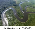 top view of amazon rainforest ... | Shutterstock . vector #410383675