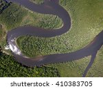 top view of amazon rainforest ... | Shutterstock . vector #410383705