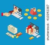 online sale payment method... | Shutterstock .eps vector #410392387