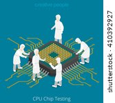 cpu chip socket testing repair... | Shutterstock .eps vector #410392927