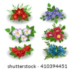 bunches of flowers isolated on... | Shutterstock .eps vector #410394451
