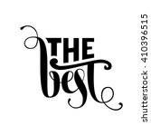 the best lettering. vector... | Shutterstock .eps vector #410396515