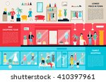 shopping center and boutique... | Shutterstock .eps vector #410397961