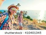 we love traveling and trekking  ... | Shutterstock . vector #410401345