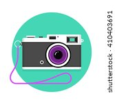 icon of vintage photo camera.... | Shutterstock . vector #410403691