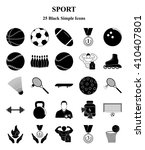 sport and fitness 25 icons set... | Shutterstock .eps vector #410407801