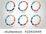 3d circle arrows for... | Shutterstock .eps vector #410410444