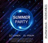 summer party flyer. club party... | Shutterstock .eps vector #410414821