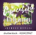 tropical beach summer print... | Shutterstock .eps vector #410415967