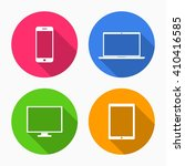 device icons  smartphone ... | Shutterstock .eps vector #410416585