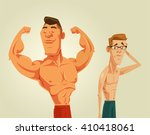strong and weak men. vector... | Shutterstock .eps vector #410418061