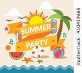 summer festival party banner.... | Shutterstock .eps vector #410419669