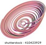 3d illustration of abstract... | Shutterstock . vector #410423929