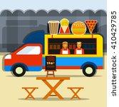 food truck festival. street... | Shutterstock .eps vector #410429785