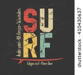 surfing design graphics for t... | Shutterstock .eps vector #410430637