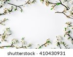 wreath frame with white flowers ... | Shutterstock . vector #410430931