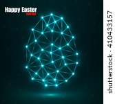 abstract glowing easter egg... | Shutterstock .eps vector #410433157