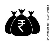 money bags icon vector indian...   Shutterstock .eps vector #410439865